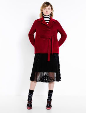 Pea coat in pure wool fabric