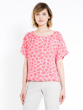 Speckled print blouse
