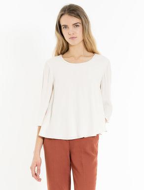 A-Linien-Bluse aus Kreppgewebe