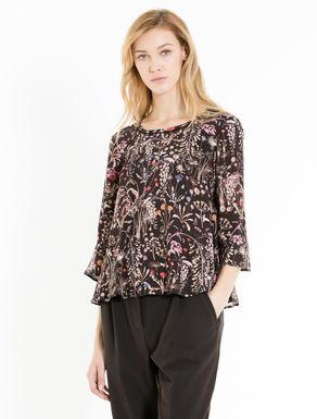Crêpe A-line blouse