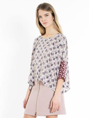 Silk kimono T-shirt