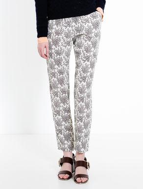 Pantaloni di tessuto crêpe stampato