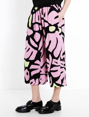 Pantaloni cropped wide fit
