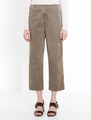 Pantaloni cropped di gabardine