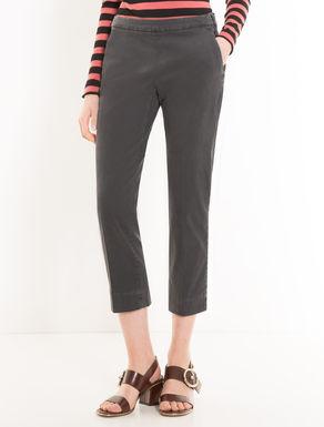 Pantaloni cropped slim di gabardine