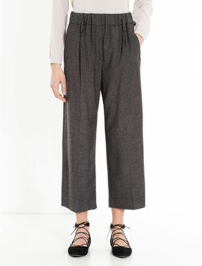 Pantaloni wide fit di flanella