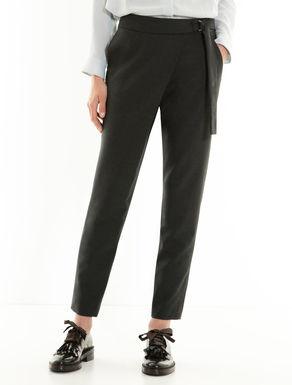 Pantaloni sarong di tessuto stretch