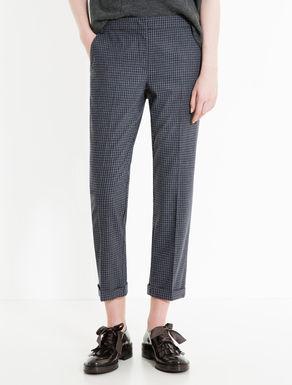 Pantaloni slim di flanella check