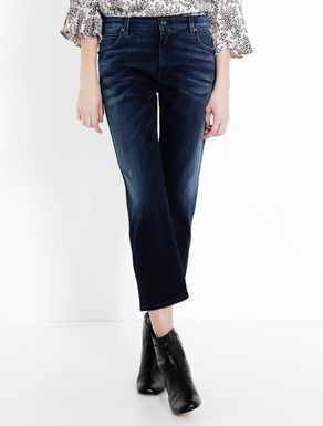 Cropped straight-fit jeans