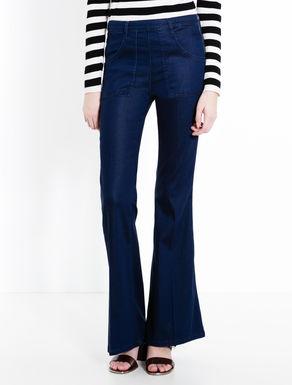 Blue skinny-flare jeans
