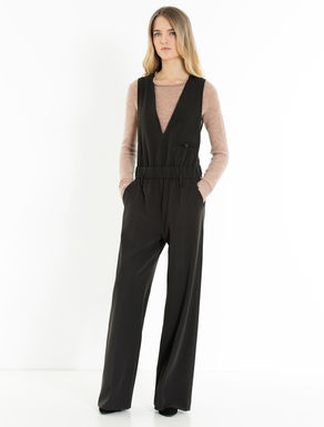 Twill riding jumpsuit