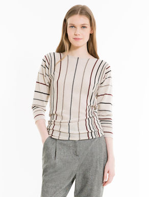 Striped cashmere slim-fit jumper