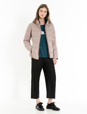 Reversible two-tone down jacket