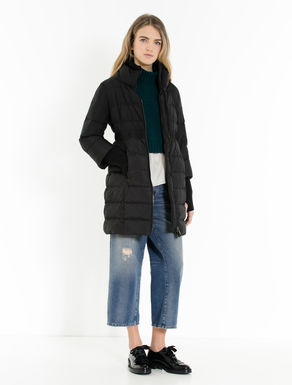 Slim-fit down jacket with knit details