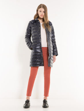 Down jacket with detachable sleeves