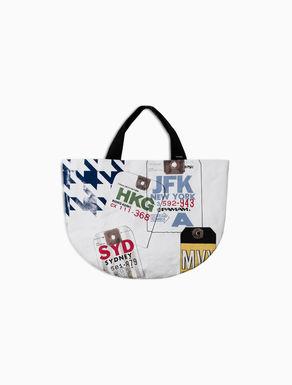 Shopping bag di canvas stampato