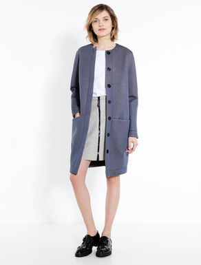 Soft double jersey coat
