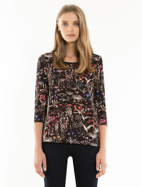 Camiseta de jersey floral