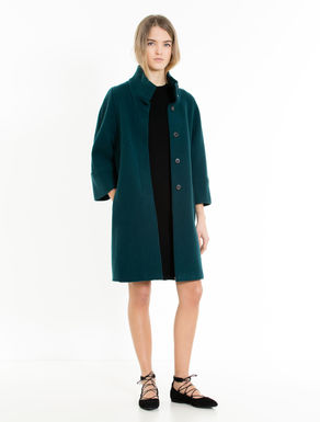 Wool and cashmere double-weave coat
