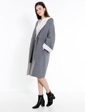 Two-tone double-cloth coat