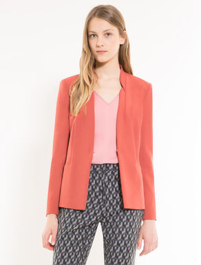 Straight-fit double-cloth blazer