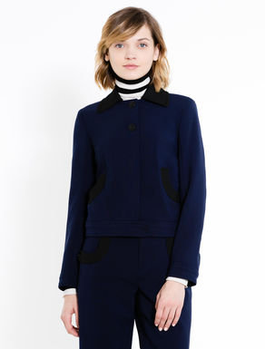 Boxy jacket with contrasting inserts