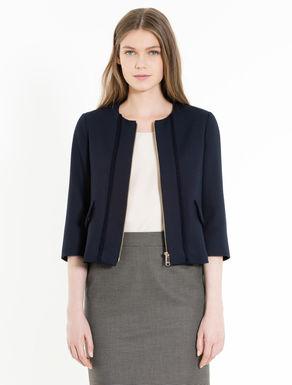 Piqué boxy jacket