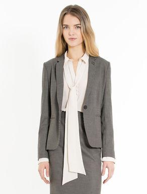 Slim-fit stretch blazer