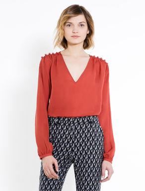 Blusa de seda con botones