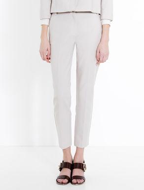 Pantaloni slim di cotone double