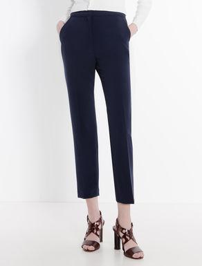 Pantaloni slim di tessuto double