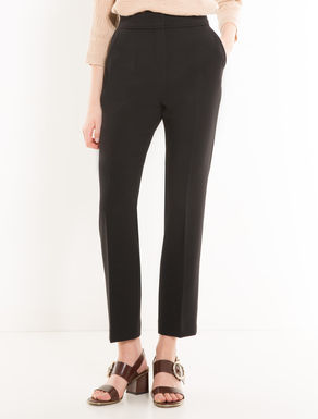 Slim-fit double-cloth trousers
