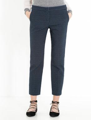 Pantaloni slim jacquard geometrico