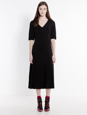 Jersey godet dress