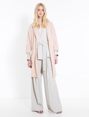 Brushed mohair knit coat