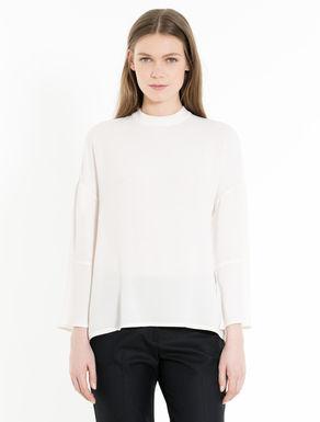 Sablé and jersey blouse