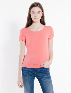 Jersey T-shirt with slits