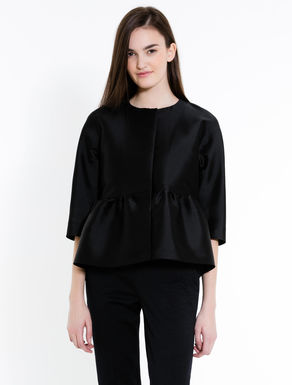 Duchesse jacket with flounce