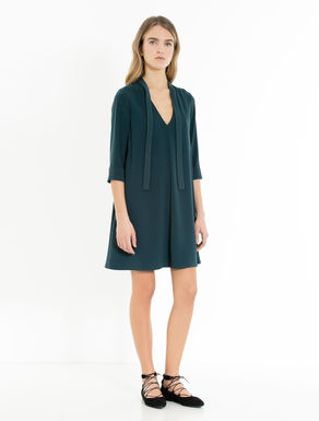Crêpe A-line dress