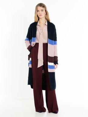 Alpaca-blend tricot coat