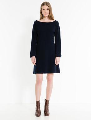 Boiled wool knit dress