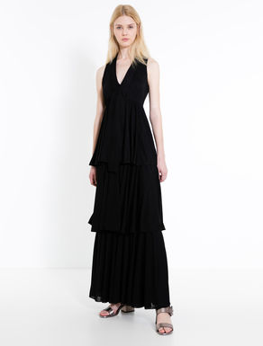 Long flounced jersey dress