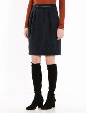 Lamé jacquard jersey skirt