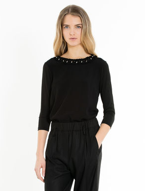 Shirt aus Jersey und Sablé