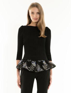 Jersey and fabric modular top