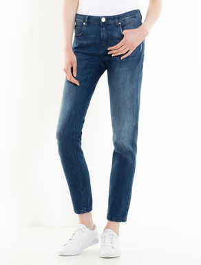 Skinny medium stone-washed jeans