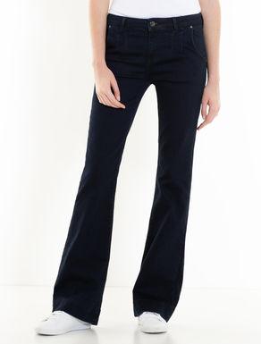 Blaue Bootcut-Jeans