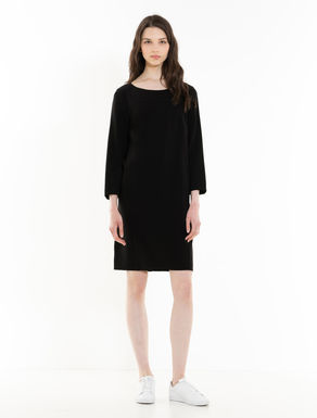 Fluid fabric shift dress