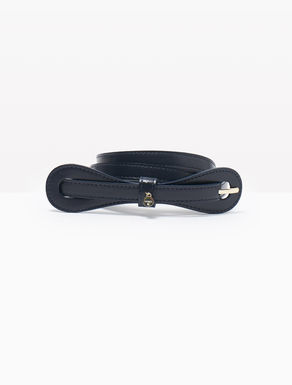 Leather belt with bow