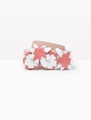 Imagen principal de producto de Cinturón de piel con flores aplicadas - MAX&Co.